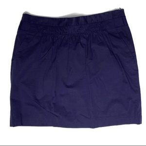 Banana Republic Navy Mini Stretch Skirt W/ Pockets